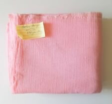"""Pink Bubble Gauze Crinkle Soft Cotton Sewing Craft Fabric 43"""" x 3 3/4 yards"""