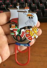 """One Piece Thousand Sunny Ship Anime Paper Clip Bookmark 4"""" US Seller"""