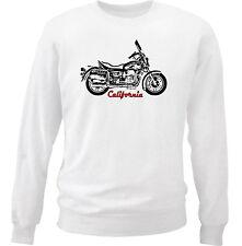 MOTO GUZZI CALIFORNIA 2-Coton Blanc Sweat-shirt toutes tailles en stock