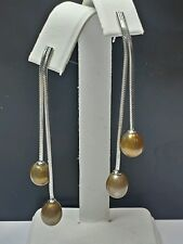 Sterling Silver With Freshwater Pearl Drop Earrings