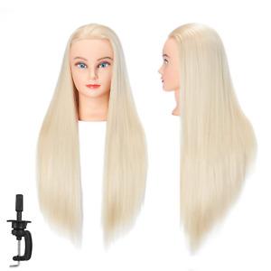 Cosmetology Mannequin Head 100% Human Hair Like Hairdresser Training Super Long