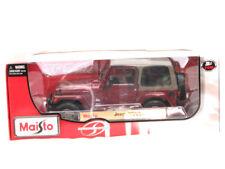 Maisto Jeep Wrangler Sahara Burgundy 1/18 Diecast car