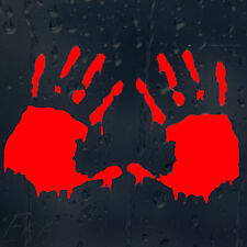 Zombie Bloody Hands Print Car Or Laptop Decal Vinyl Sticker For Window Panel