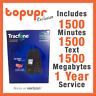 New Tracfone Alcatel A405 Flip Prepaid Cell Phone +1 Year $125 Plan1500 Minutes