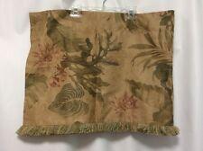 Valance Set Of 2 JC Penney Chris Madden Tropical Floral Suede Like Soft Fringe 2