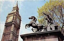 B88114 big ben and boadicea statue london   uk  14x9cm