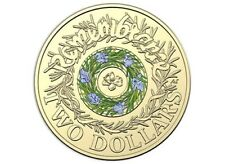 2017 Australian $2 dollar Blue/Green Rosemary coin. Low Mintage. Uncirculated.