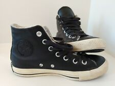 Converse Chuck Taylor All Star, Black Leather, Textile Lined, Size UK 3.5 EUR 36