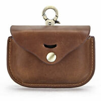 Brown Leather Sony Earphone Cover Protective Travel Case For Sony WF-1000XM3