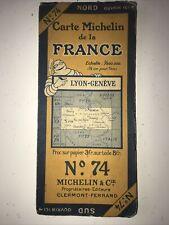 Ancienne Carte Routière Michelin Numéro 74 Lyon - Genève Années 30