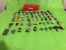 Micro Machines 60 Pcs Lot Cars Ships Airplanes Helicopter Military+ Red Hauler