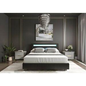 Amadeus Upholstered Low Profile Platform Bed-Queen
