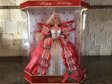 HTF 1997 HAPPY HOLIDAYS Barbie Doll NRFB SPECIAL Edition BLOND HAIR 17832