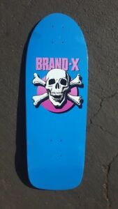 Vintage 1984 NOS Brand X knucklehead team skateboard deck not a reissue