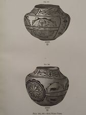 Zuni Pueblo Indian Pottery Water Vases New Mexico 1883 lithograph Print #4