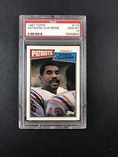 1987 Topps Football Card Graded Gem Mint PSA 10 Raymond Clayborn 110 Patriots