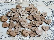 100 wooden love hearts rustic wedding table confetti, invitations USA
