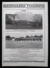 CHURCHILL STUD & FARM LIVERY NEAR LINGFIELD SURREY 1pp ESTATE AGENT ADVERT 1973