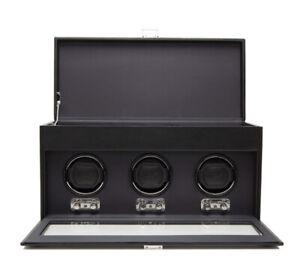 **NEW** WOLF Heritage Triple Watch Winder + Storage | BLACK