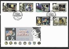 GB Isle of Man 2009 FDC 40th anniversary of Man on The Moon fine used stamps