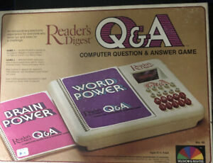 Vintage Readers Digest Q & A computer question & answer Game 100% complete