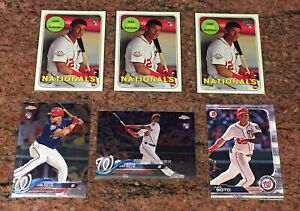6x JUAN SOTO 2018 Topps Chrome Update HMT55 Rookie + Heritage Nationals RC lot