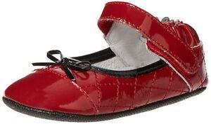NIB Robeez Shoes Mini Shoez Red HOLIDAY Patent Leather Mary Jane Caroline 3-6m 2