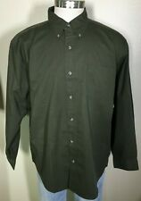 Knightsbridge Long Sleeve Army Green 100% Cotton Button Down Shirt Men's XL NWT