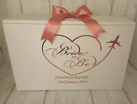 Wedding Dress Travel Box,BRIDE TO BE,Airline Hand Luggage Box, Any Date,Location