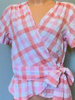 Max Studio Women's Wrap V-Neck Short Sleeve Blouse Shirt Top Size XL 8703C34B