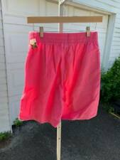 NWT VINTAGE WOOLRICH WOMENS SHORTS SIZE S PINK ELASTIC WAIST (AR)