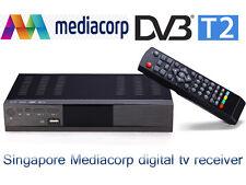 Free gift antenna new chipset 7T01 DVB-T2 receiver mediacorp digital dvb t2