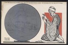 Postcard YOGI-SWAMI METAMORPHIC CRYSTAL BALL FORTUNE TELLING CARD #2 1929
