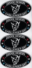 DODGE DEMON CHALLENGER SRT 2018 (4) SEW/IRON ON PATCH EMBROIDERED HEMI MOPAR