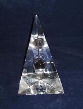"Baccarat Crystal Art Glass Bijan Bahar, Clear Decorative Sculpture Signed 6 7/8"""