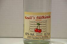 1 Flasche Krull's Süsskirschbrand 40 % in 0,7 L Kirschgeist, Kirschbrand mild
