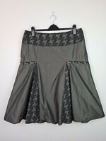 """Blooms Sylvia Dove A-Line Taffeta Embroidered Skirt Women's Size 16 W36"""" AU MADE"""