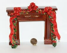 Dollhouse Miniature Holiday Fireplace Garland