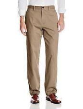 MERONA ULTIMATE KHAKIS Men's Pants 42 X 32 Beige 100% Cotton Classic Fit Flat