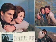 ALAIN DELON ROMY SCHNEIDER 1960 Vintage Japan Picture Clippings 7-Pages #EA2