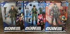 "GI Joe Classified Wave 4 Set Lady Jaye Flint Cobra Commander In Stock 6"" figures"