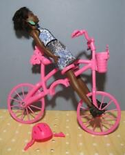 Barbie Pink Bike for Dolls to ride on, Hooks onto a Real Little Girls Bicycle