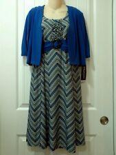 NWT PERCEPTIONS NEW YORK Women's 2-Piece Royal Blue Jacket Dress - Size 10P
