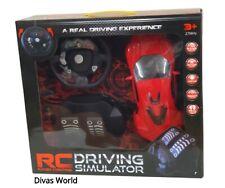 Radio Control Car Driving Simulator Kids Fun Game Toy Remote Cars Playset Gift