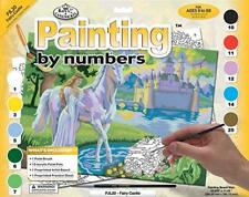Fairy Castle CANVAS PAINT BY NUMBERS  LARGE A3 PAINTING KITS - Kids Adults
