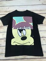 Disney Mickey Mouse Size Small Black Mickey Mouse Print Tshirt Casual Top Shirt