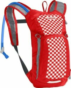 Camelbak Mini Mule M.U.L.E. Kid's Hydration Pack 50 oz Racing Red/Checkered