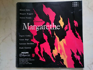 Gounod Margarethe 60s Philips Microgroove 3 Vinyl Lps + Book French Sung NM