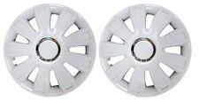 "Pair Of White 14"" Caravan Wheel Trims Hub Caps for ABI Award Tristar 1998"
