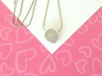 Brighton Massandra Round Silver Necklace crystals New Tags $52